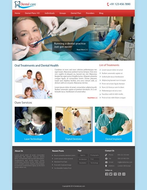 Buy Dental Care Templates at buycmstemplate.com