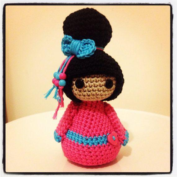 Amigurumi Geisha Tutorial : Handmade Crochet Geisha Doll Amigurumi