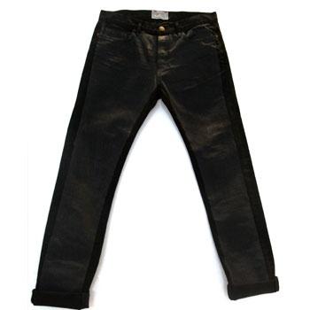 Current Elliott for Marni black block print jeans