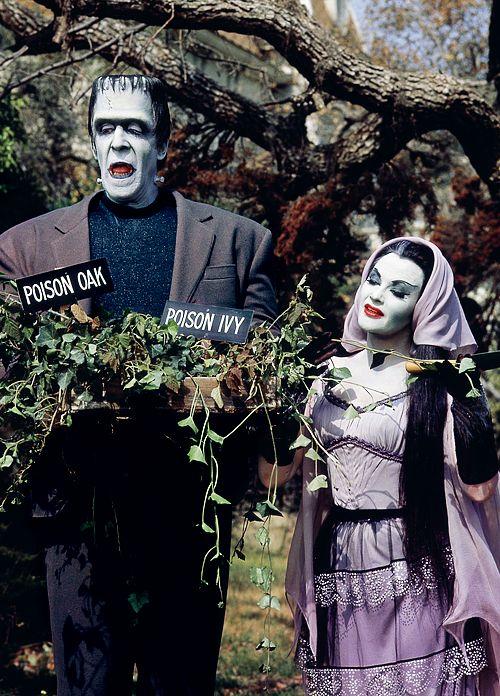The Munsters gardening.