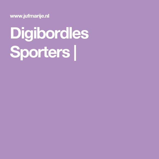 Digibordles Sporters  