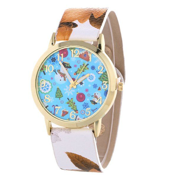 Snowman Christmas Tree PU Leather Watch #>=#>=#>=#>=#> Click on the pin to check out discount price, color, size, shipping, etc. Save and like it!