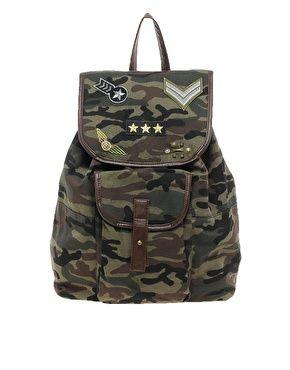 camo backpack: Camo Backpack, Backpacks, River Island, Island Backpack