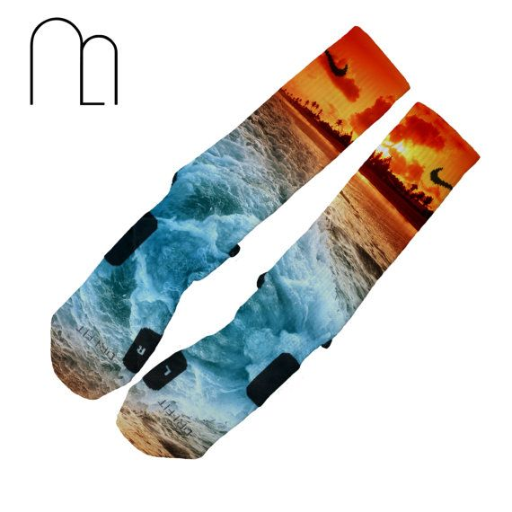 Custom Elites Tropic Sunset by MemoApparel on Etsy