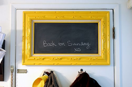dyi: picture frame chalk board.