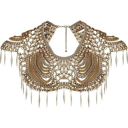 Oversized collar necklace