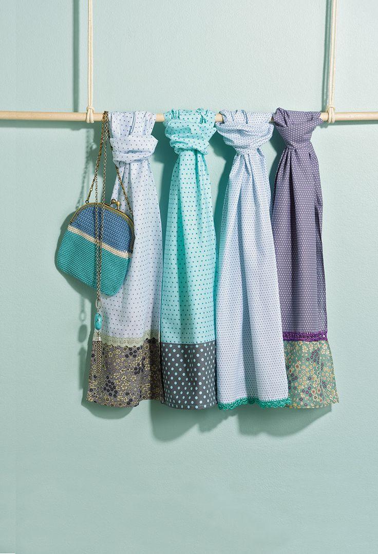 Ces jolis foulards aux tons pastel sont parfaits pour l'été !