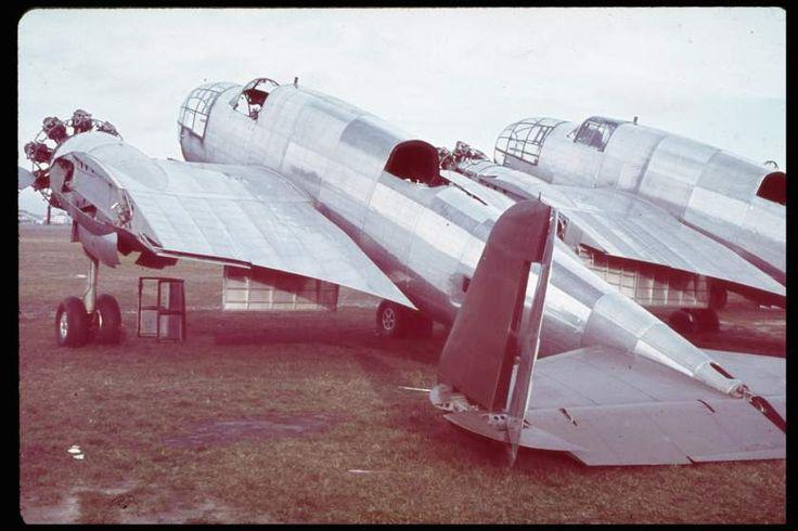 Unfinished PZL 37B, Okecie, September 1939.