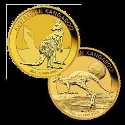 1 Unze Gold Australien Känguru diverse Jahrgänge
