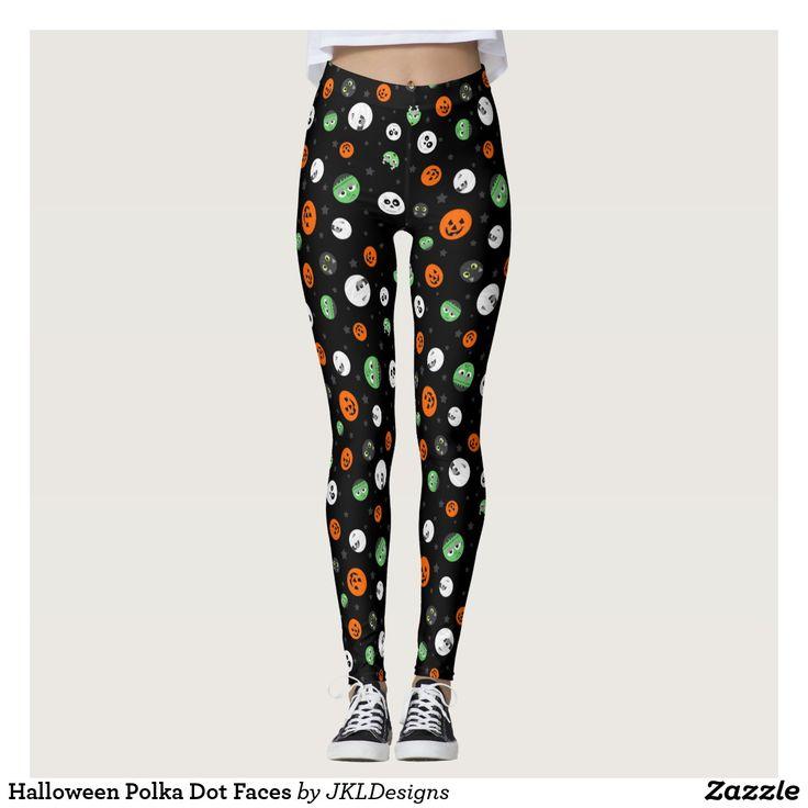 Halloween Polka Dot Faces Leggings
