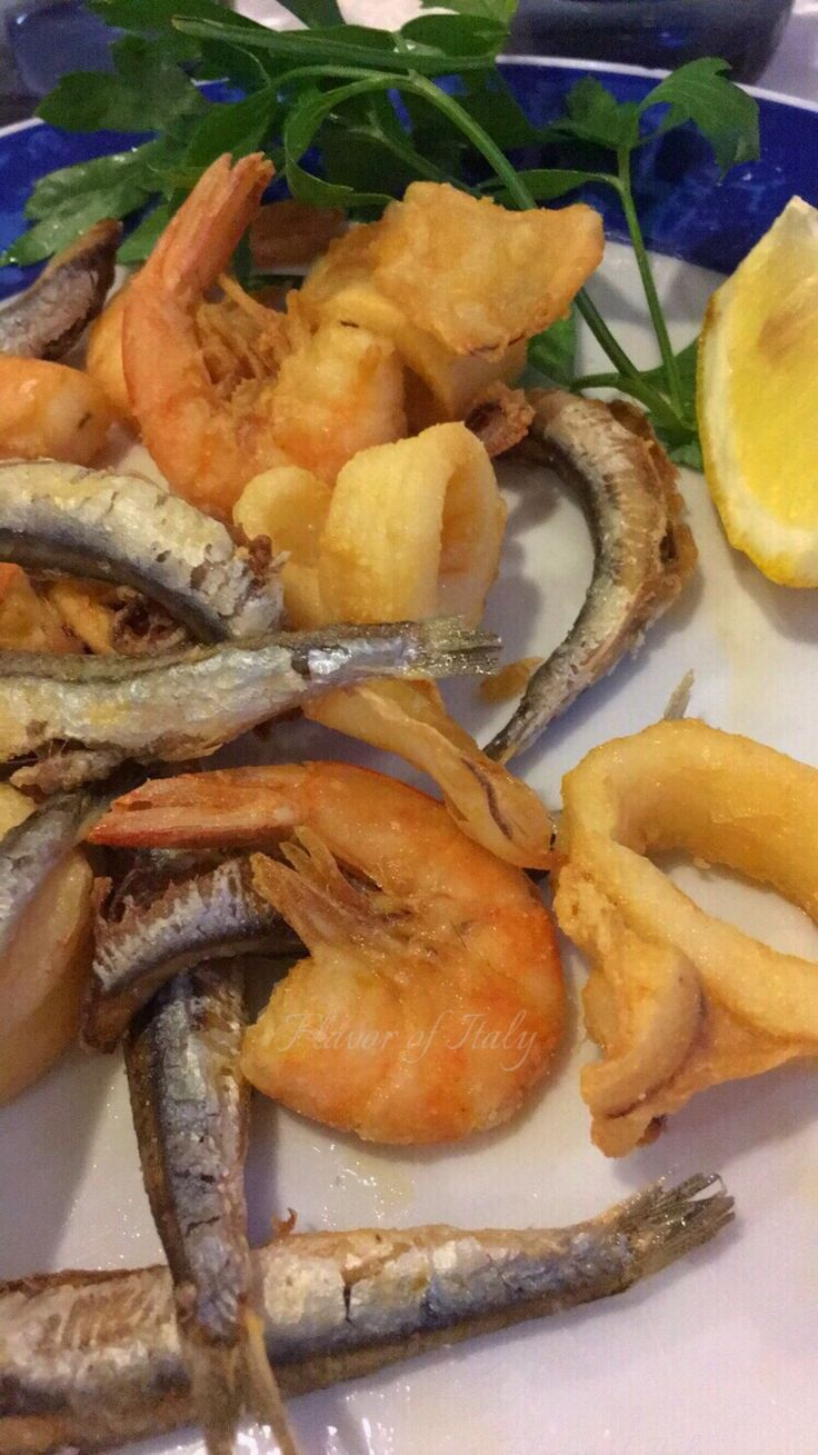 Seafood is amazing in Sperlonga; what you have for dinner is caught that day!