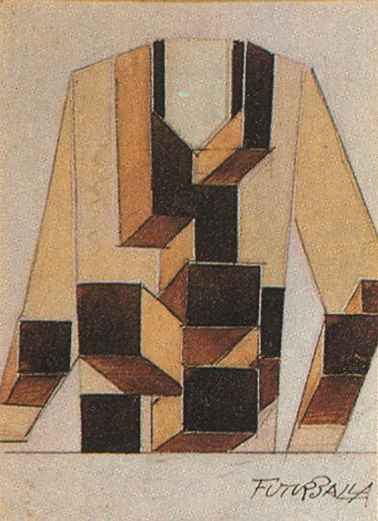 Giacomo Balla. very geometric design, shattering of space