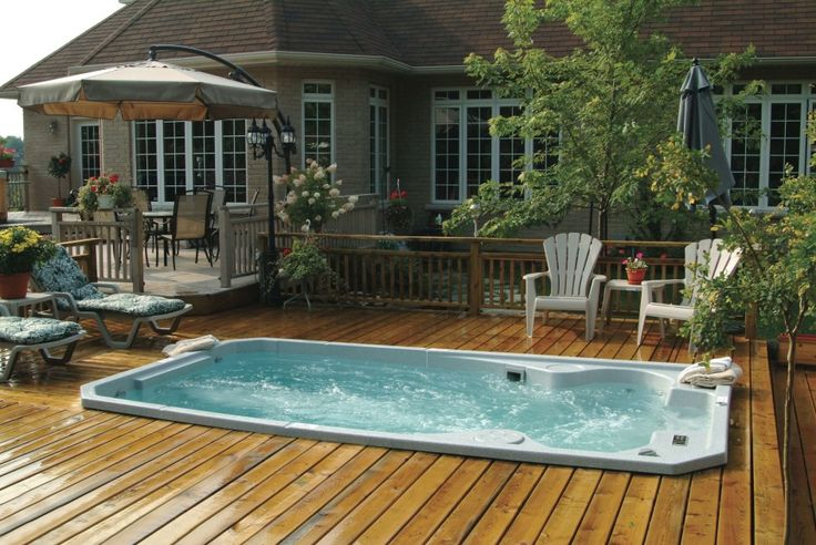 above ground pool decks from house