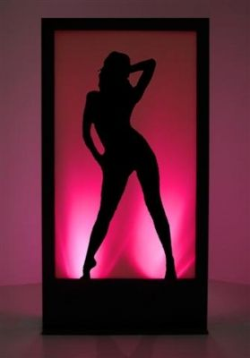 Event Prop Hire: Girl Silhouette Panel