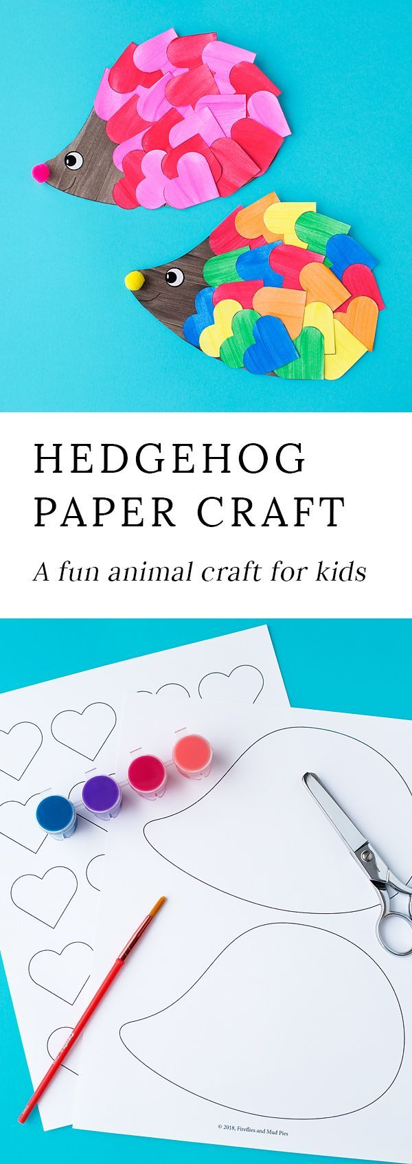 This easy hedgehog craft is perfect for kids who love animals! #hedgehogcraft #animalcrafts #papercrafts