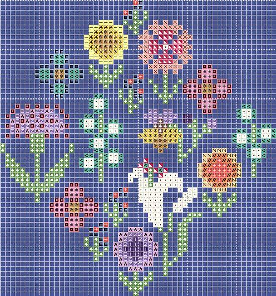 Gera! designs free flower chart (no materials list)