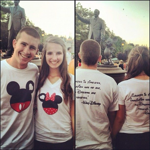 Laughter is timeless, imagination has no age, and dreams are forever. Couple Disney shirts