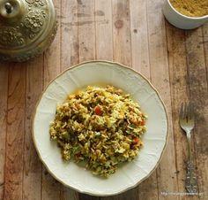 Φακόρυζο με πικάντικα λαχανικά - Spiced basmati rice with lentils and veggies