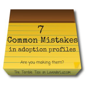 adoption profile mistakes