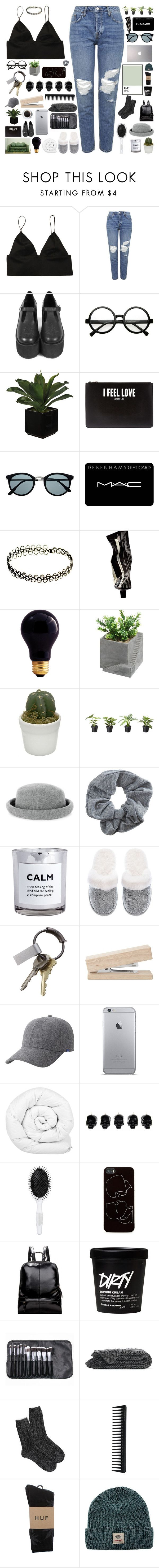 """""""luna"""" by dont-go-to-sleep ❤ liked on Polyvore featuring Topshop, Retrò, Givenchy, MAC Cosmetics, Aesop, Bulbrite, Warehouse, H&M, Victoria's Secret and CB2"""