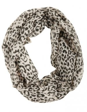 DEPT Pieces animal printed tube scarf Smiley