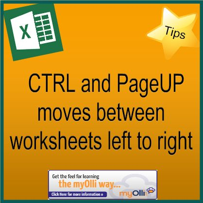 8 best ntc computer instructors images on pinterest microsoft microsoft office excel tip ctrl pageup moves between worksheets left to right fandeluxe Images