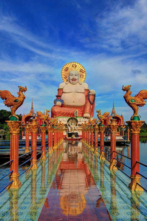 El templo budista de Wat Plai Laem, Ko Samui (Isla), Tailandia.
