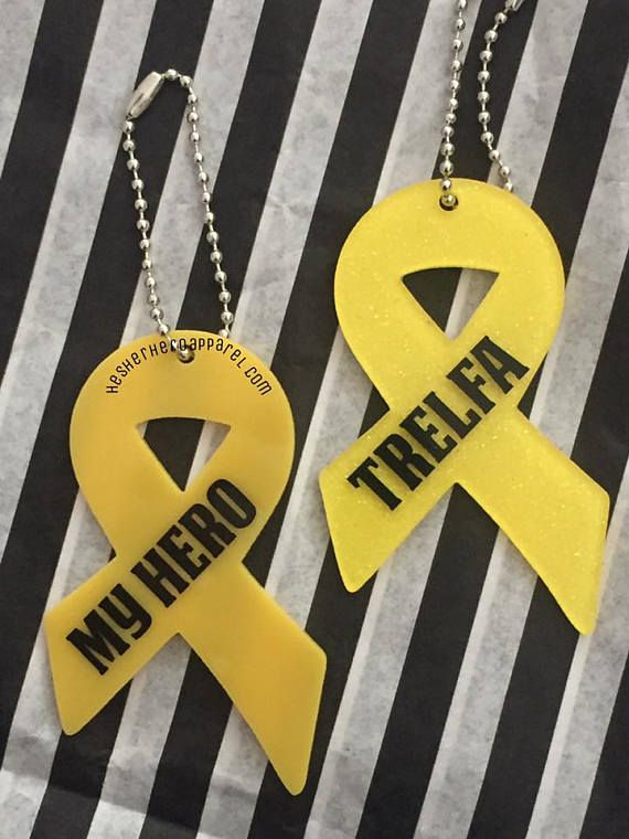 yellow ribbon keychain support our troops keychain military