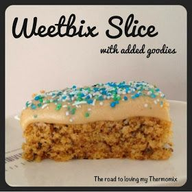 The road to loving my Thermomix: Weetbix Slice with Hidden Goodies