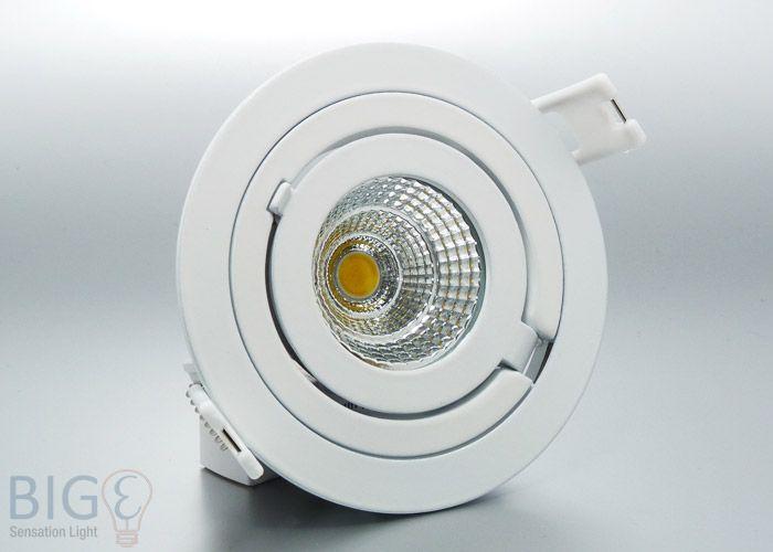 Elegant LED Einbaustrahler Rund COB schwenkbar Watt Ersetzt Watt Halogenspot und ist schwenk