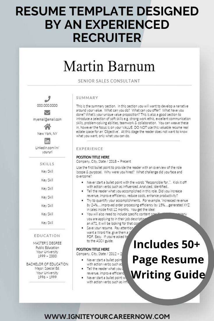 Downloadable resume template for microsoft word cv