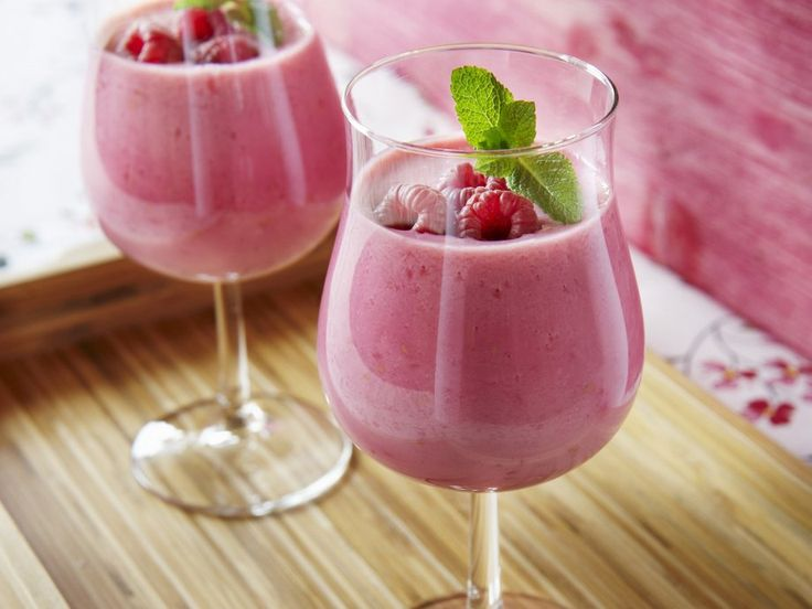 Rezept: Himbeer-Buttermilch
