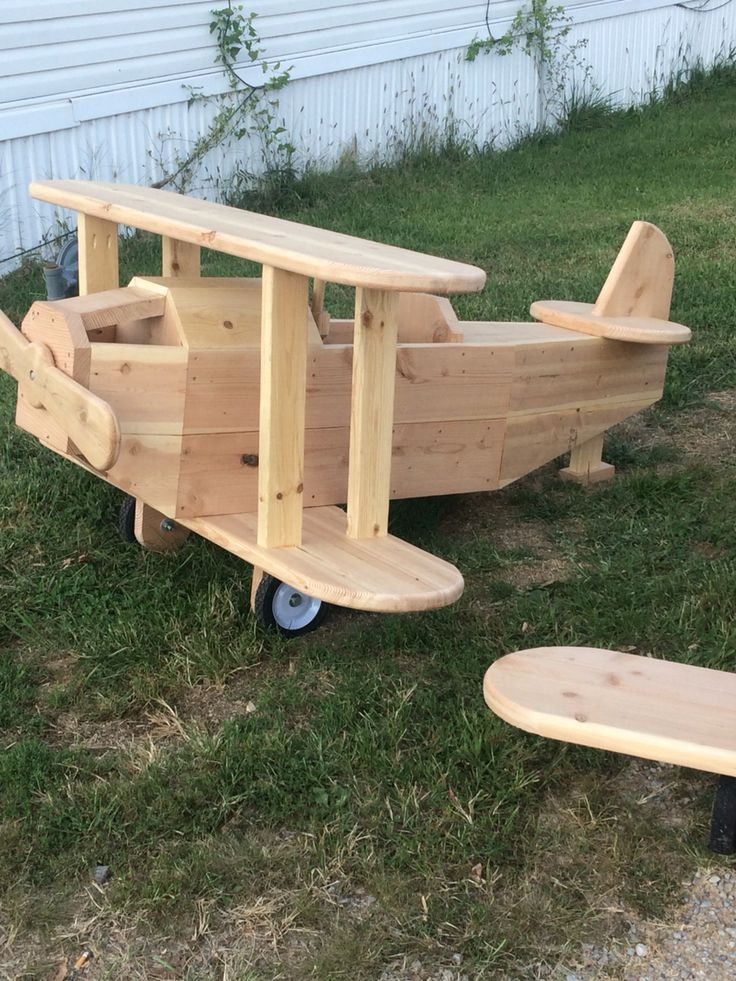 Diy airplane play structure wooden toys plans wooden