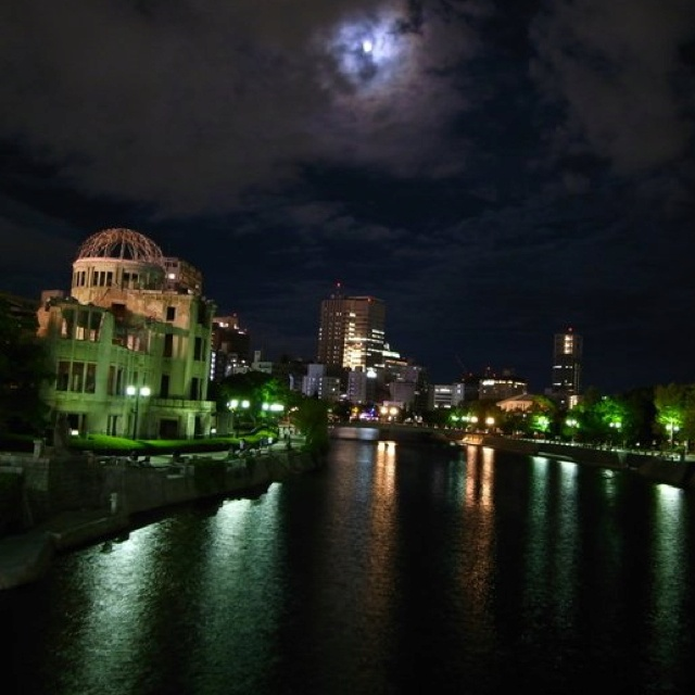 """[Hiroshima-City] An awe-inspiring """"Atomic Bomb Dome"""" in Hiroshima City. It was designed by Czech architect, Jan Letzel (1880–1925). It looked like kind of an ancient shrine to me..."""
