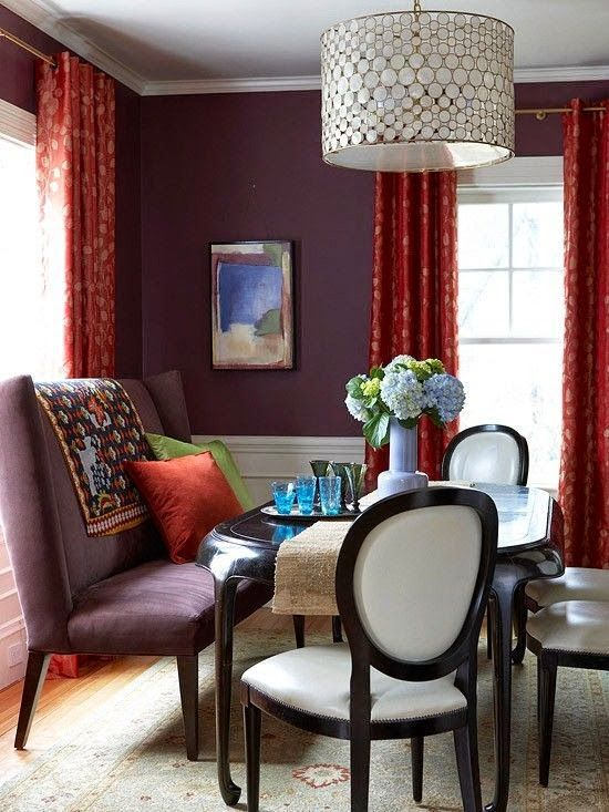 Best Aubergine Eggplant Interiors Images On Pinterest