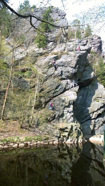 Climbing via ferrata - Amazing climb next to a river.