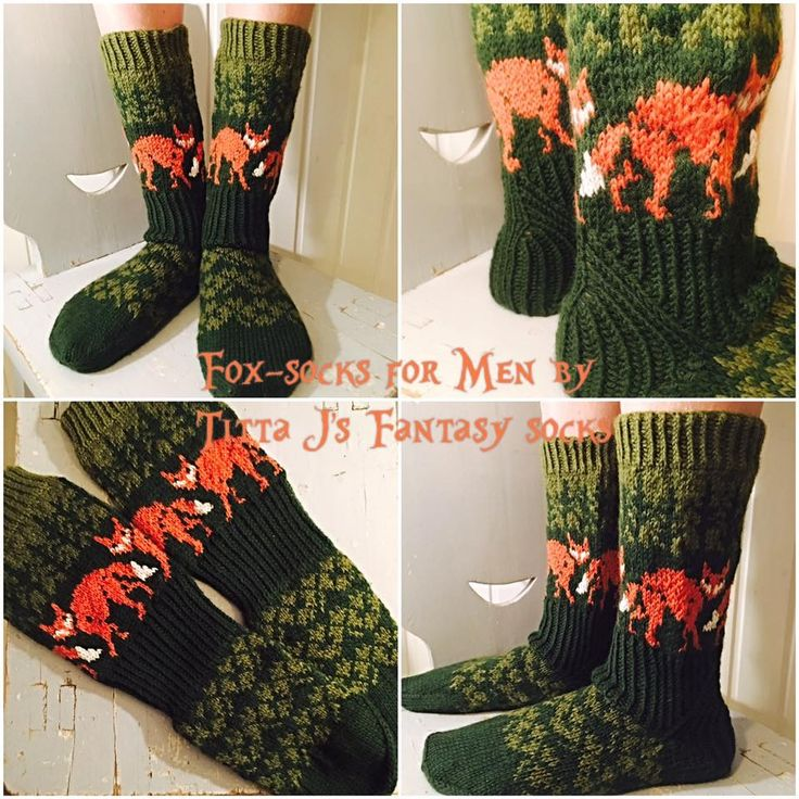 Foxsocks for men by Titta J's Fantasy Socks