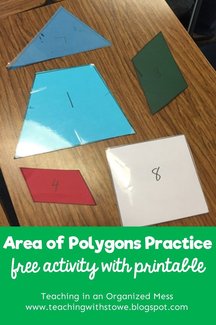 After the students learned the area of triangles, parallelograms, and trapezoids, they needed to practice.   It would be easy to give them a...
