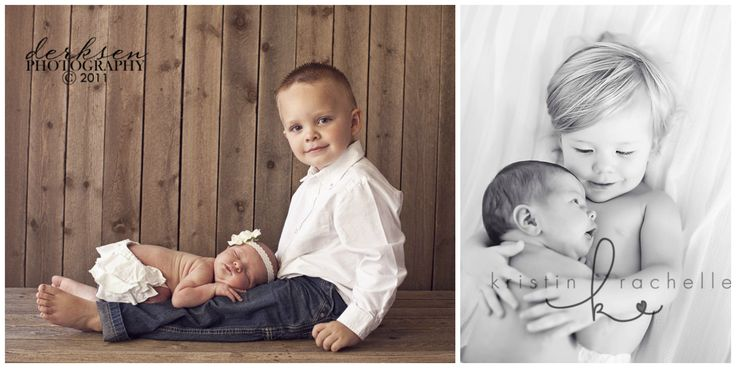 Don't forget to include the older siblings in your photo shoots. Nothing makes the older sibling feel more special then some exclusive shots of 'just them' and the new addition.  (Photo Credit: Derksen Photography, Kristin Rachelle)