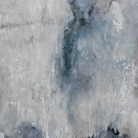 Greyscale abstract painting with hints of blue. This piece is part of a series of four.