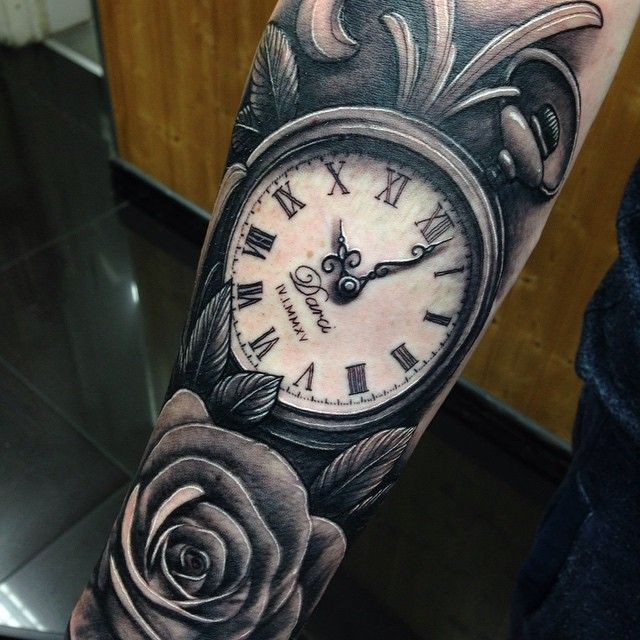 pocket watch tattoo sleeve - Google Search