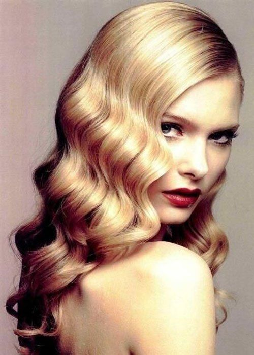 Finger Wave Hairstyle 1920s finger waves It Girl Style Vintage Curly Hairstyles