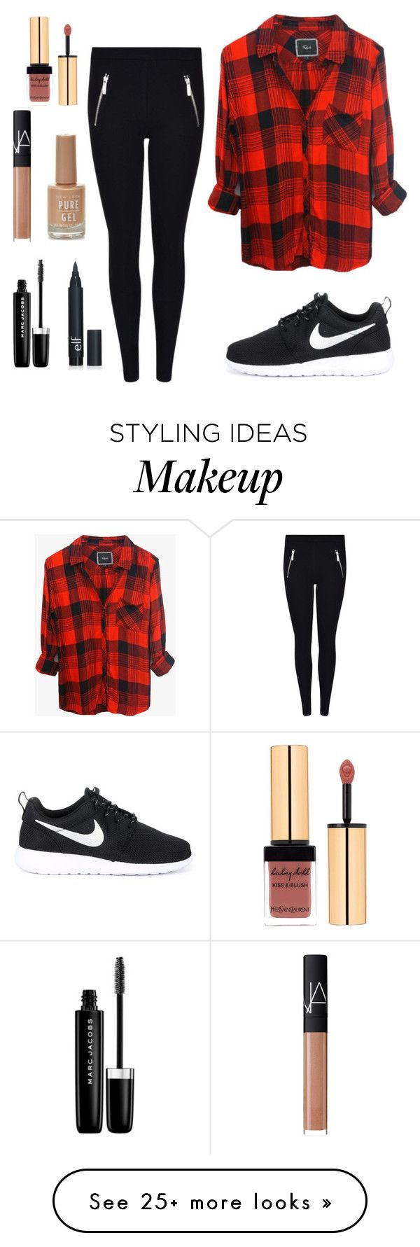 """Untitled #5"" by kristinfowler on Polyvore featuring Rails, MICHAEL Michael Kors, NIKE, Marc Jacobs and NARS Cosmetics"