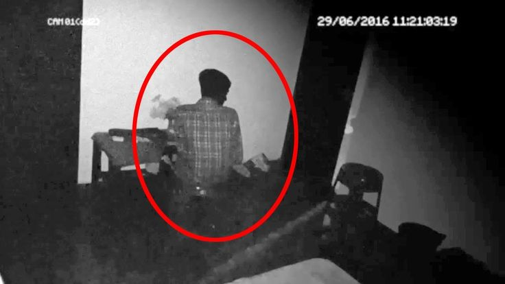 Paranormal Video Of A Ghost Sitting Near A Boy In A Room!!