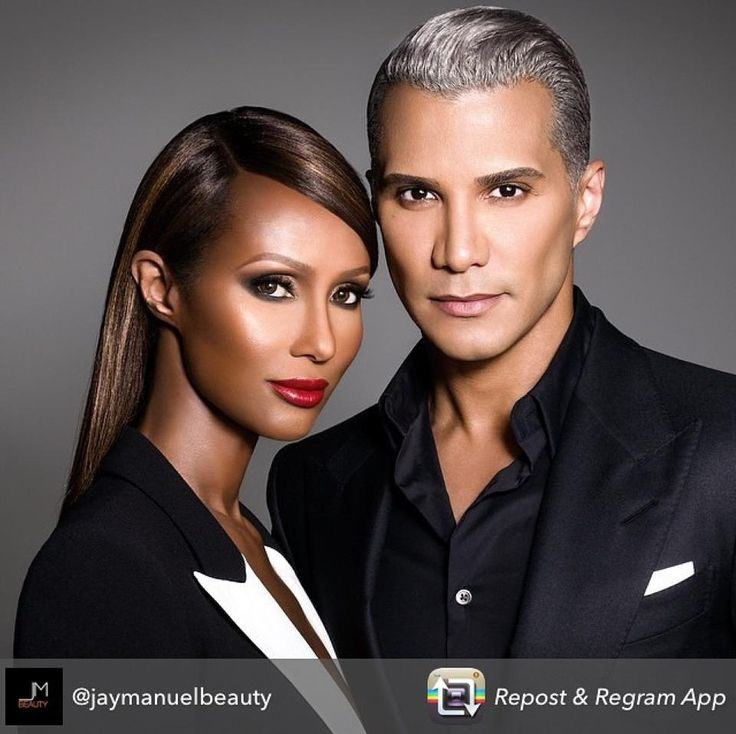 The Iconic Iman And Mr Jay Just Had To Repost After Watching His Makeup Line
