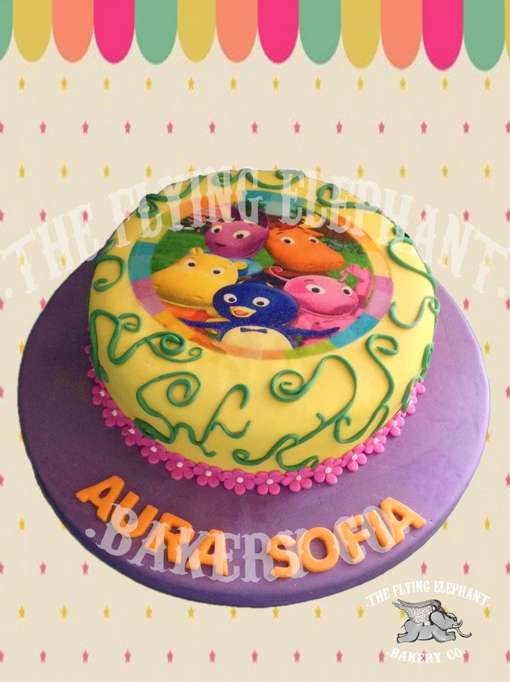 Backyardigans cake. Fondant and edible printing