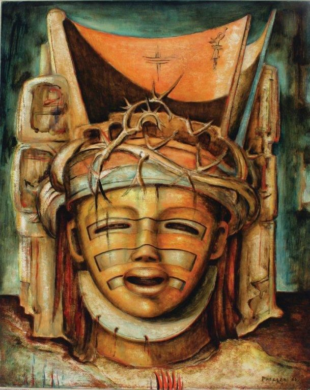 Alexis Preller, Christ Head, 1952. Oil on wood. 51 x 41 cm. Iziko South African National Gallery (Source Standard Bank Gallery)