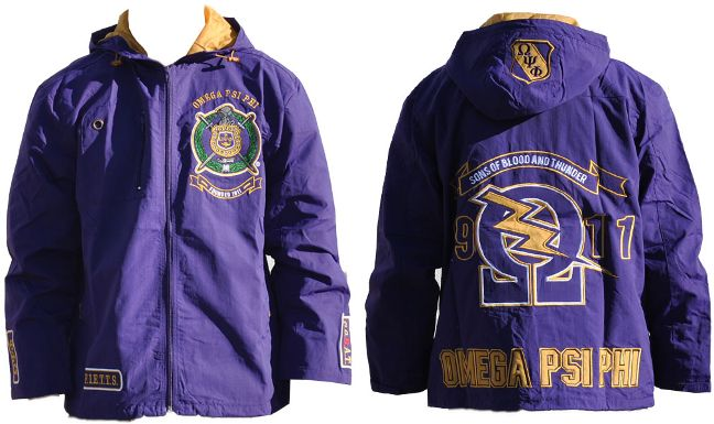 Omega Psi Phi Fraternity Windbreaker Jackets