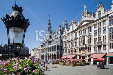 Brussels Grand Place in the summer Royalty Free Stock Photo