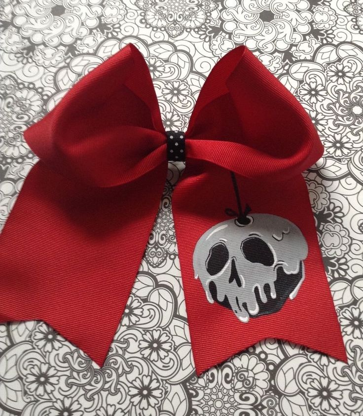 Disney Snow White Poison/Bad Apple Cheer/Dance Hairbow French Clip
